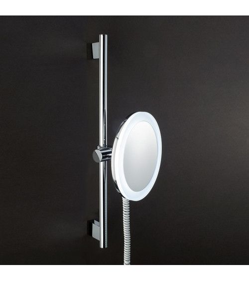 Miroir cosmétique chromé x3 avec LED - BS62
