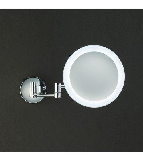 Miroir cosmétique chromé x3 avec LED - SB60