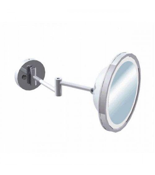Miroir grossissant mural Chrome X3 avec éclairage