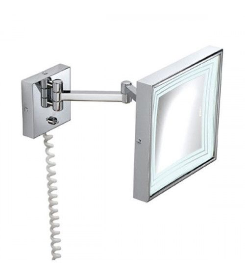 Miroir grossissant mural Chrome X3 avec miroir éclairé
