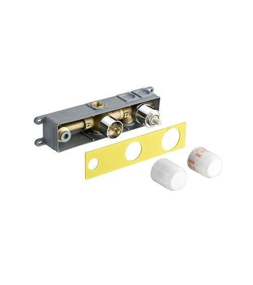 Mécanisme box à encastrer pour lavabo 2 sorties