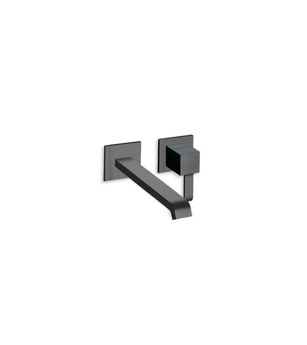 mitigeur lavabo mural noir quadri. Black Bedroom Furniture Sets. Home Design Ideas