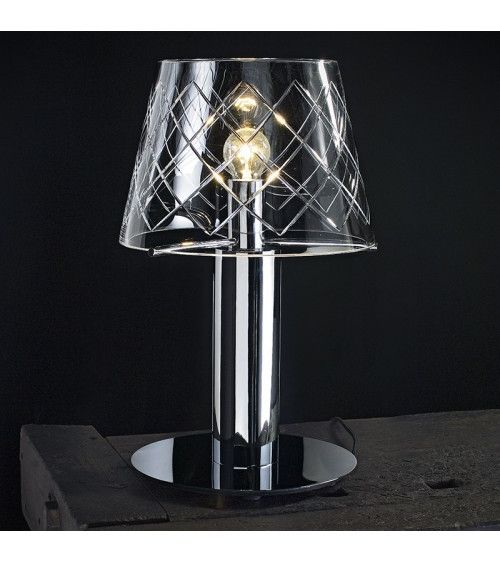 Lampe de table cristal miroir - CLEAR