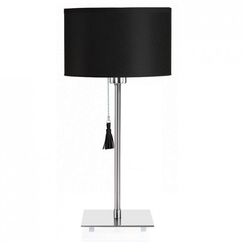 Table Cuir De Room Lampe 25 Chromeamp; Noir mvNn8O0w
