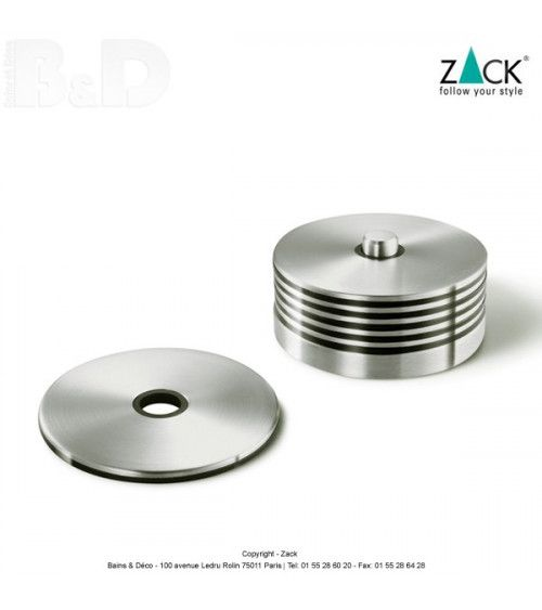 6 Reposes Verre Inox de la collection de Zack