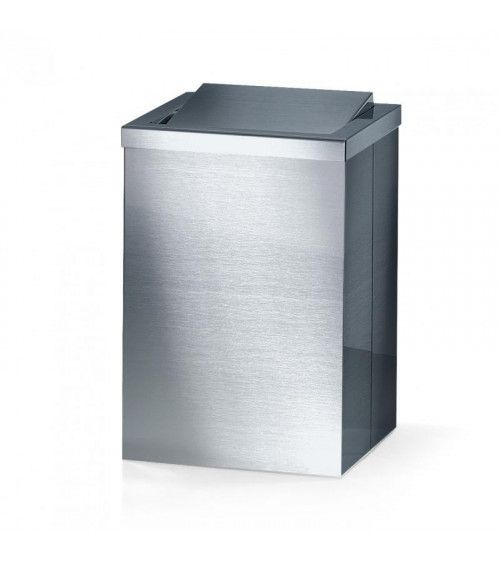 Corbeille à papier carrée en acier mat avec couvercle basculant - DW 113