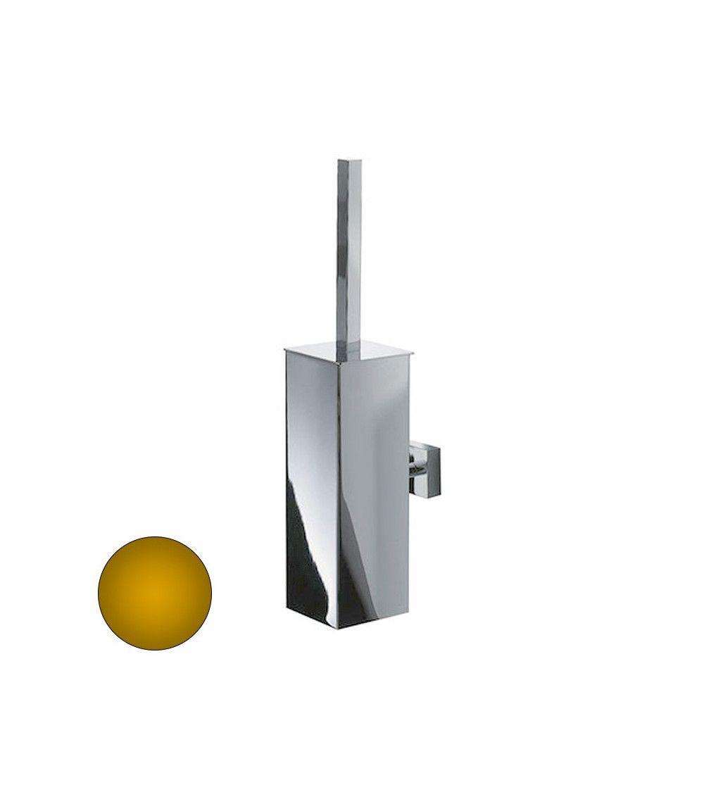 porte balai wc mural en acier dor avec couvercle dw371 decor walther. Black Bedroom Furniture Sets. Home Design Ideas