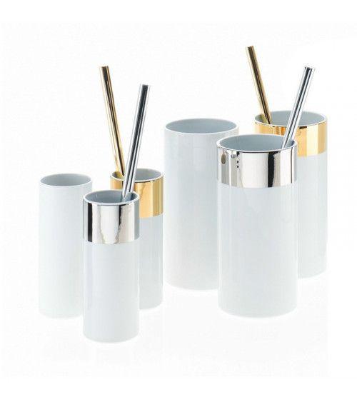 Porte-balai WC en porcelaine avec brosse - WCG M