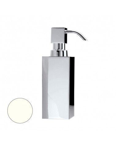 Distributeur de savon à poser en acier blanc mat 230ml - DW 395