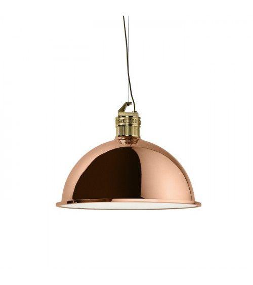 "Lampe suspendue ""Special factory"" petit modèle OR Rose- Ghidini 1961"