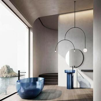 On adopte la touche de couleurs dans la salle de bains pour réveiller l'espace ! Optez pour des salles de bains éclairées à la lumière du jour pour miser sur un intérieur frais & paradisiaque 🦋🌊  Bains & Déco vous accueille dans ses showrooms parisiens dans le respect des gestes barrières !  N'hésitez pas à prendre rendez-vous sur notre site bainsetdeco.fr (Lien dans la bio) ✨  Salle de bains by Antonio Lupi ✨  #bainsetdeco #bathroom #design #luxurylifestyle #luxuryhomes #collection #exlusivity #showrooms #Paris #antoniolupi #love #beautiful #luxury #deco #decorationdinterieur #interieur