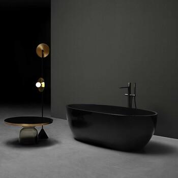 Inspiration Salle de Bains du jour 🛁  Salle de bains black and gold by Antonio Lupi ✨  #bainsetdeco #bathroom #design #luxurylifestyle #luxuryhomes #collection #exlusivity #showrooms #antoniolupi #paris #love #beautiful #luxury #deco #decorationdinterieur #black #gold
